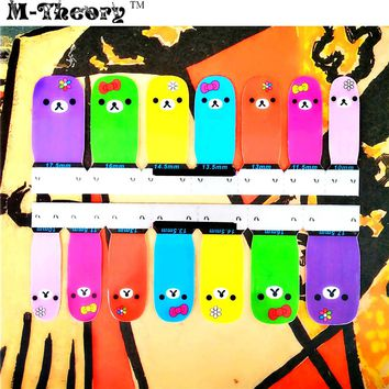 Fashion Nail Art Stickers Adhesive Nails Wraps Waterproof Durable 1-2 Weeks Cute Alpaca Designs