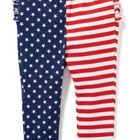 Flag-Print Ruffle-Back Leggings for Baby | Old Navy
