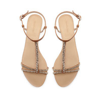 ANKLE STRAP SANDALS WITH CHAIN - Shoes - TRF - ZARA France
