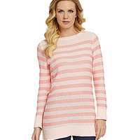 Pendleton Stripe-Print Fine Gauge Knit Sweater - Pearl Blush