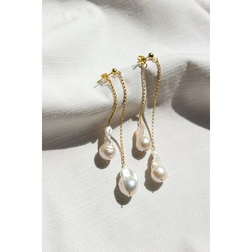 Waterfall Pearl Earrings - Christine Elizabeth Jewelry