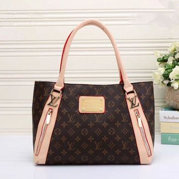 LV Louis Vuitton Women Shopping Leather Tote Handbag Shoulder Bag Pattern