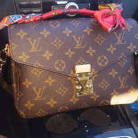Louis Vuitton LV Women Shopping Leather Crossbody Shoulder Bag Satchel Bag