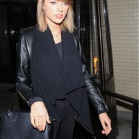 525 America Leather & Envelope Cardigan As Seen On Taylor Swift - Black