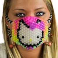 Hello Kitty Glow Kandi Mask