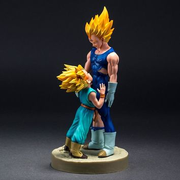 Dragon Ball Z Vegeta Kid Trunks Action Figure Dramatic Showcase