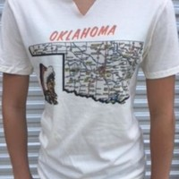 "Gina ""Oklahoma Map"" Natural Tee"
