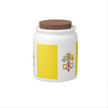 Vatican City Flag Candy Jar