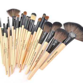 24 Pcs Makeup Brush Setes Professional Cosmetic Eye Tool