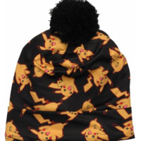 Pokemon Pikachu All Over Sublimated Pom Beanie - Licensed