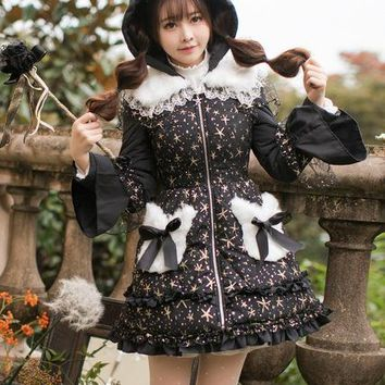 Princess sweet lolita parkas Candy rain in the winter of women's original and cute Japanese Sweet Princess female C22CD7239