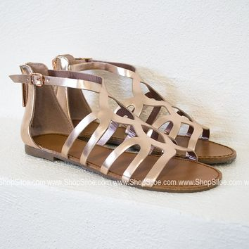 Feminine Gladiator Sandals | Rose Gold