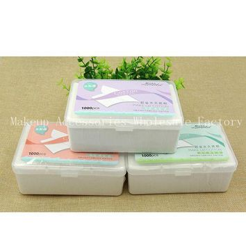 ESBON Disposable Makeup Remover Pads 48box Facial Cleansing Cotton Cosmetics Wet Tissues Non-woven  Cleanser Wipes 1000 Pumping Boxed