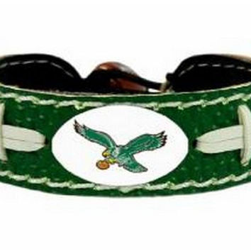 NFL Philadelphia Eagles Retro Team Color Football Bracelet