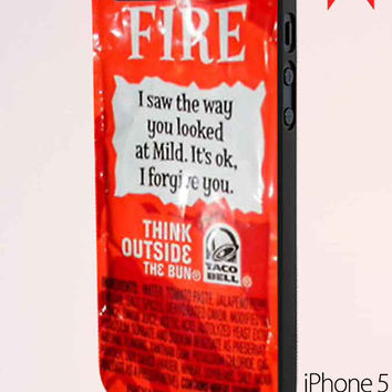 New Taco Bell Sauce Fire Msh iPhone 5 Case