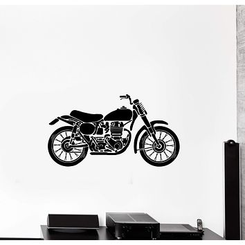 Wall Decal Transport Motorcycle Garage Decor Bike Vinyl Sticker (ed1289)