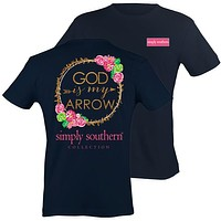 Sale Simply Southern Preppy God Is My Arrow Pattern T-Shirt
