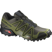 Salomon Speedcross 3 GTX Trail Running Shoe - Men's Dark Khaki/Black/Iguana Green,
