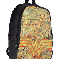 Wonderwoman collages vintage 105481e4-0379-4559-b586-479f0eb1da42 for Backpack / Custom Bag / School Bag / Children Bag / Custom School Bag *02*