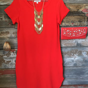 Fun in the Sun Tunic Dress: Red
