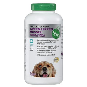GNC Pets Ultra Mega Green Lipped Mussel for All Dogs - Tasty Fish