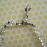 Vintage Laguna Crystal Choker Necklace