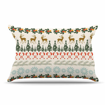 "Famenxt ""Christmas Vibes"" Holiday Pattern Pillow Sham"