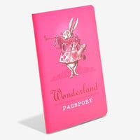 Wonderland Passport Pocket Lined Notebook
