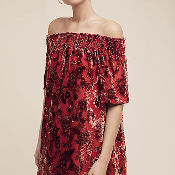 Barrott Velvet Off-The-Shoulder Dress