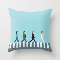 The Beatles Throw Pillow by Victor Trovo Afonso