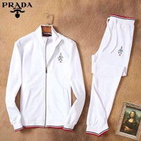 Boys & Men Prada Cardigan Jacket Coat Pants Trousers Set Two-Piece Sportswear