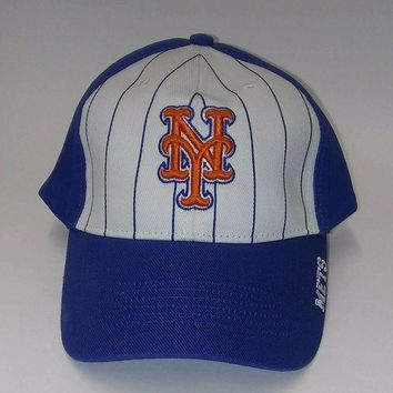 DCK4S2 New York Mets Royal Blue with White MLB Adjustable Hat
