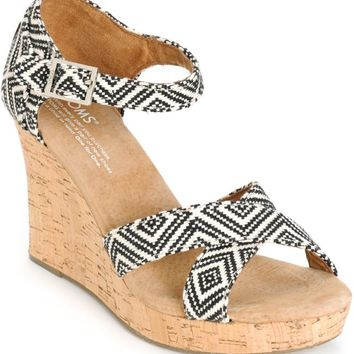 Toms Woven Diamond Women's Strappy Wedges