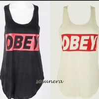 Obey ladies vest top one size fits all by Teashirtuk on Etsy