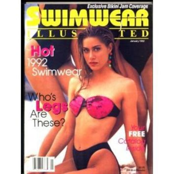 Swimwear Illustrated (January 1992) (with Tina Toups cover and featuring Ujena pin-up models)