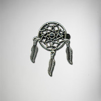 Dream Catcher Black Bead Adjustable Ring
