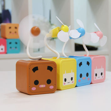 Box Lovely Mini USB Storage Creative Fan [6270381126]