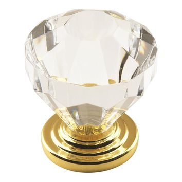 Amerock Traditional Classics Traditional Acrylic Round Cabinet Knob