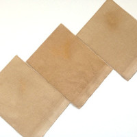 4.5 by 5.5 inch Tea dyed 14ct Aida cloth for making cross stitch coasters or artistic craft patches