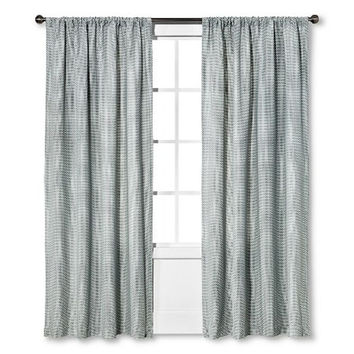 "Nate Berkus Woven Curtain Panel Cool Multi Texture 54""X84"" gray/white"