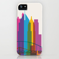 Shapes of Pittsburgh. Accurate to scale iPhone & iPod Case by Yoni Alter