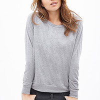 FOREVER 21 Heathered Knit Pullover