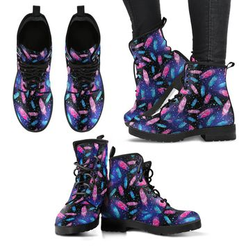 Feathers Women's Leather Boots