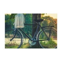 Vintage Countryside Bicycle Canvas Print