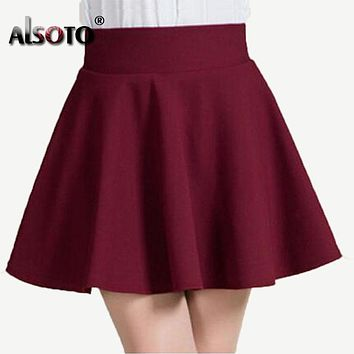 New 2018 Summer style sexy Skirt for Girl lady Korean Short Skater Fashion female mini Skirt Women Clothing Bottoms
