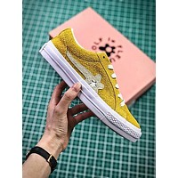 Golf Le Fleur X Converse Yellow Flower Fashion Shoes