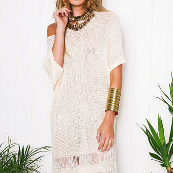 Lillie Fringe Trim Dress