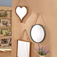 Rustic Rope Hanging Mirrors