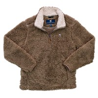 YOUTH Sherpa Pullover with Pockets in Caribou by The Southern Shirt Co. - FINAL SALE