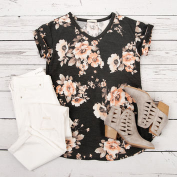 Places To Be Floral V-neck